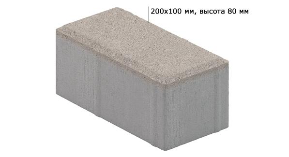 Технические характеристики: тротуарная плитка Кирпичик 80 мм